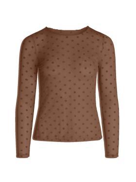 Ofelia - Ofelia Githa brun mesh bluse