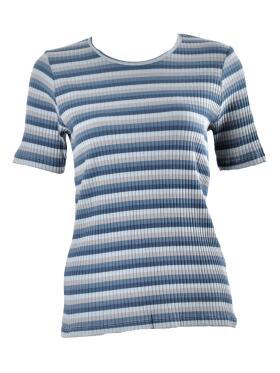 Ofelia - Ofelia GRAZIE blå T-Shirt k/æ