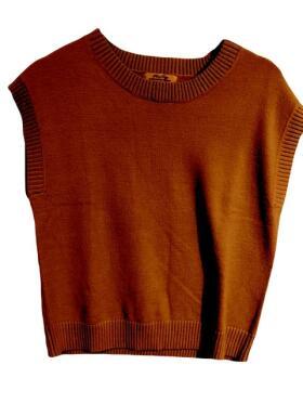 Marc Lauge - Marc Lauge Leela orange strik Vest