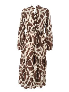 Lisbeth Merrild - Lisbeth M BRUN batik Kjole