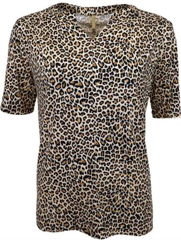 Ofelia - OFELIA BRUN LEOPARD T-Shirt