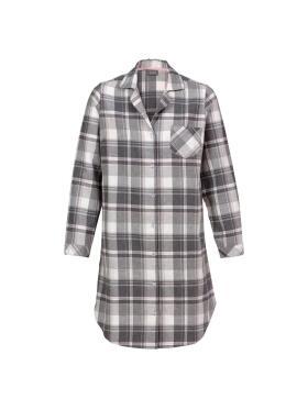 Trofé - Trofè grå flonels natskjorte